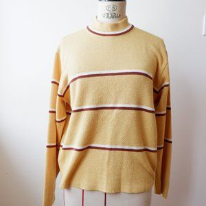 Vintage Yellow Mock Neck Sweater - 60s/70s